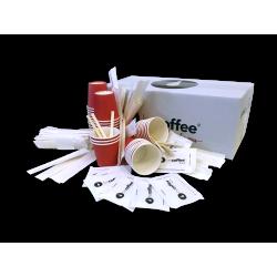 Kit BeCoffee Ecofriendly bicchierini - palettine - zucchero bianco