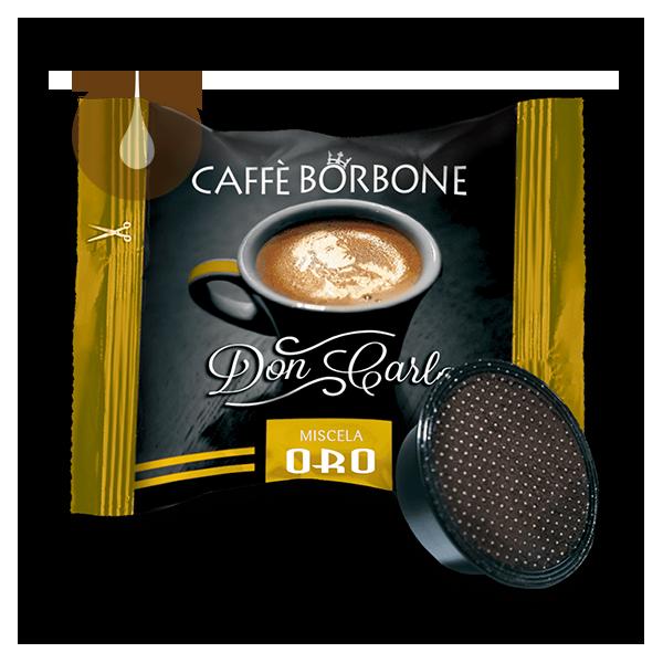 capsule caffè Borbone Don Carlo ORO compatibile Lavazza A Modo Mio
