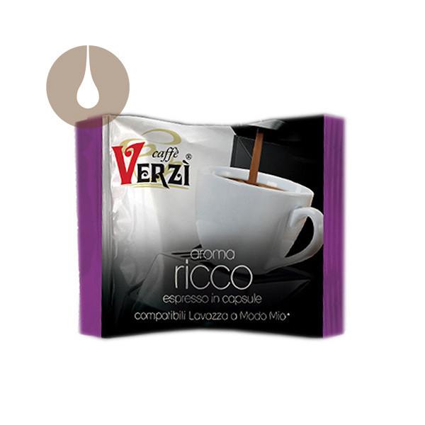 capsule caffè Verzì Aroma Ricco compatibili Lavazza A Modo Mio