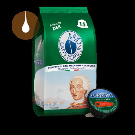 capsule caffè Borbone Miscela VERDE (decaffeinata) compatibili Nescafè Dolce Gusto