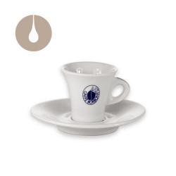 set 6 tazzine per espresso con piattino Caffè Borbone