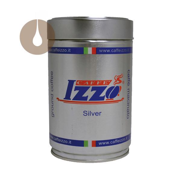 macinato caffè Izzo miscela Silver in barattolo da 250 g