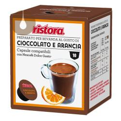 capsule Cioccolato e Arancia Ristora compatibili Nescafè Dolce Gusto