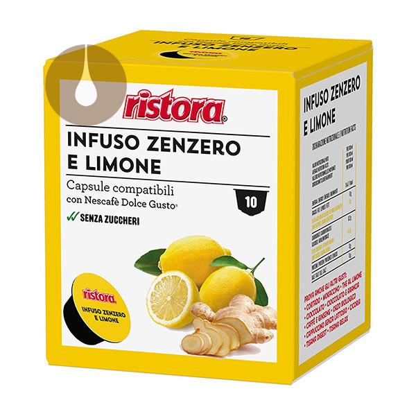 capsule Infuso Zenzero e Limone Ristora compatibili Nescafè Dolce Gusto