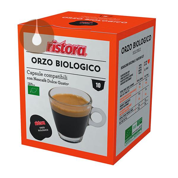 capsule Orzo Biologico Ristora compatibili Nescafè Dolce Gusto