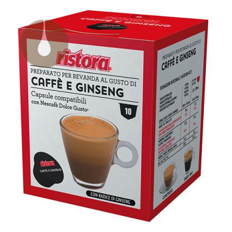 capsule Caffè e Ginseng Ristora compatibili Nescafè Dolce Gusto