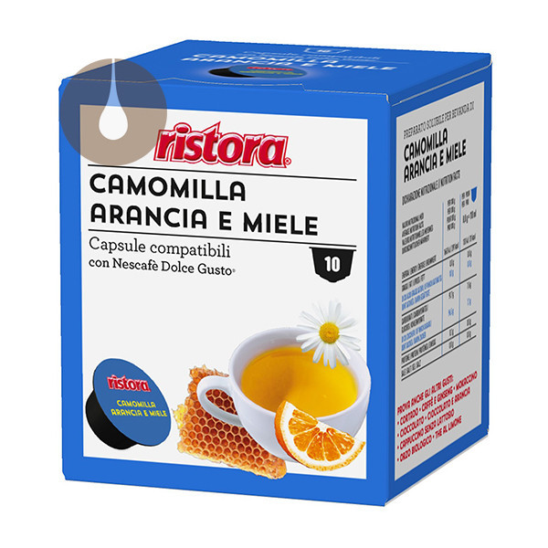 capsule Camomilla, Arancia e Miele Ristora compatibili Nescafè Dolce Gusto