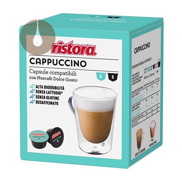 capsule Cappuccino Dek senza lattosio Ristora compat.Nescafè Dolce Gusto