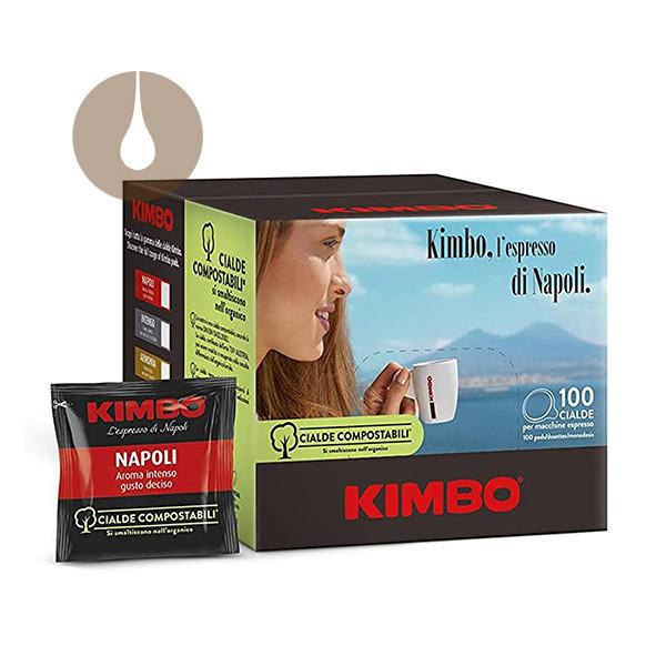 cialde di carta caffè Kimbo miscela Napoli compostabili