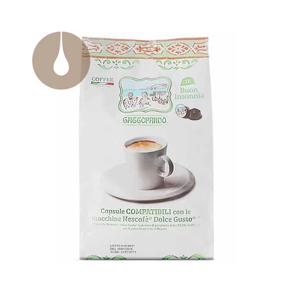 capsule caffè Gattopardo Buon Insonnia compatibili Nescafè Dolce Gusto