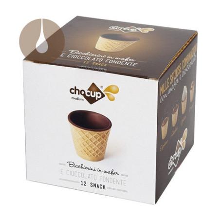 Chocup Medium di Foodrinks - 12 tazzine di wafer da 60 ml