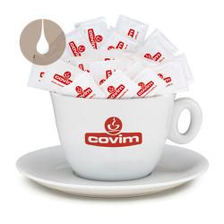 tazzone con piatto Caffè Covim porta zucchero / porta cialde / porta capsule