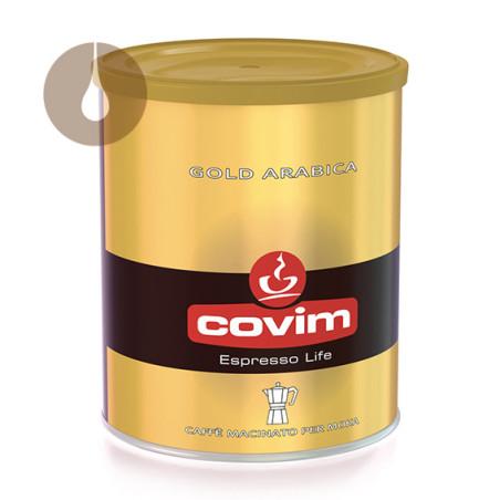 caffè macinato per moka Covim Gold Arabica da 250 g