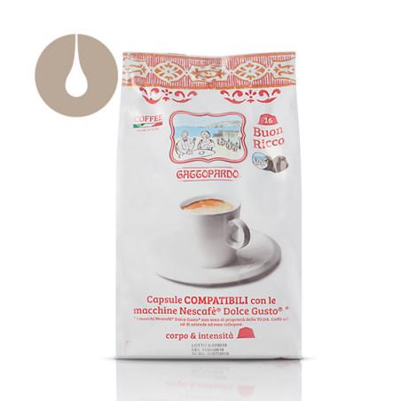 capsule caffè Gattopardo Buon Ricco compatibili Nescafè Dolce Gusto