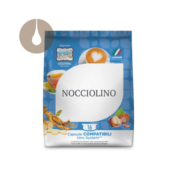 capsule caffè Gattopardo Nocciolino compatibili Uno System