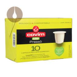 capsule caffè Covim Pressò Bio Compostabili compatibili Nespresso