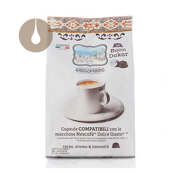 capsule caffè Gattopardo Buon Dakar compatibili Nescafè Dolce Gusto
