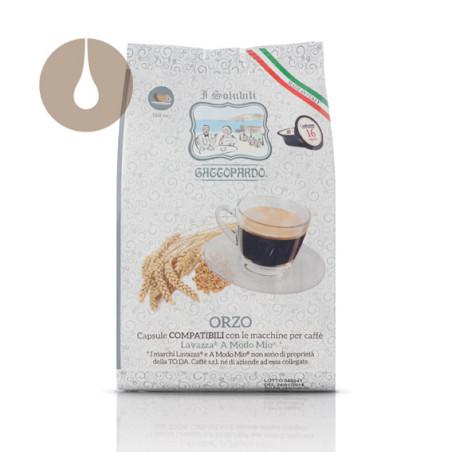 """16 capsule """"I Solubili"""" Gattopardo Orzo compatibili Lavazza A Modo Mio"""