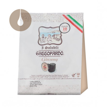 """capsule """"I Solubili"""" Gattopardo Ginseng compatibili Nespresso"""