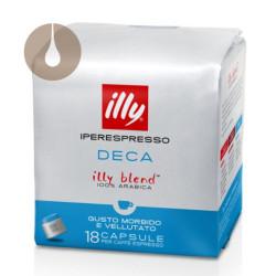 capsule caffè Iperespresso Illy Blend 100% Arabica decaffeinato Deca